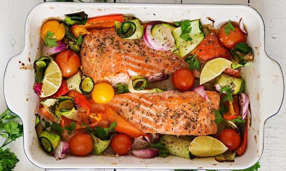 پخت ماهی در فر با فویل