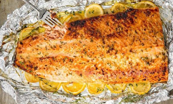 طرز تهیه ماهی در فویل