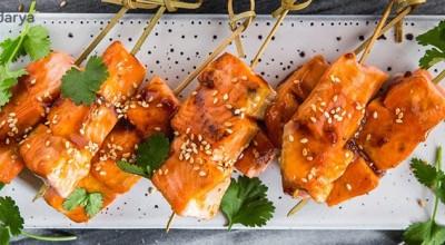 طرز تهیه ماهی سالمون با سس تریاکی