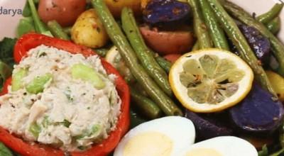 سریع ترین روش برای تهیه سالاد رژیمی تن ماهی به همراه سبزیجات پخته