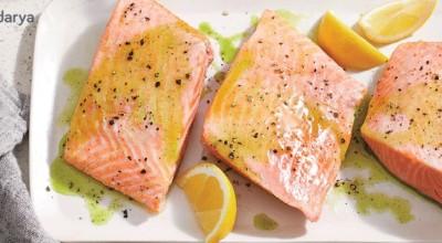 یک روش آسان برای تهیه ماهی سالمون آبپز