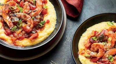 طرز تهیه خوراک میگو با بلغور جو ، یک پیش غذای عالی