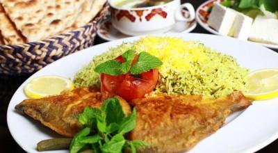 طرز تهیه سبزی پلو ماهی مجلسی با فیله ماهی شیر