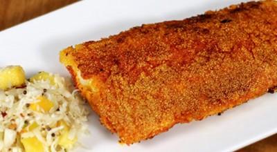 راز تهیه خوشمزه ترین ماهی سالمون سرخ شده با سالاد انبه