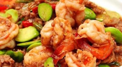 طرز تهیه خوراک میگو تایلندی