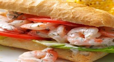 روش تهیه ساندویچ میگو