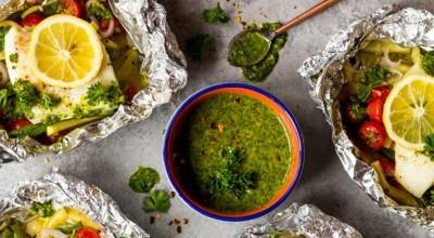 روش تهیه ماهی و سبزیجات با سس