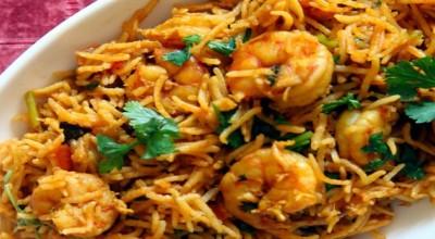 طریقه پخت بریانی میگو هندی